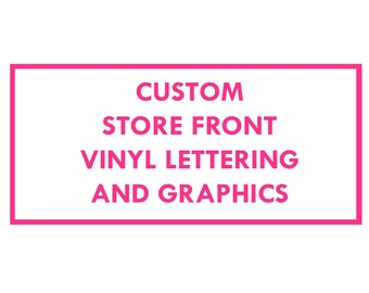 custom business lettering-decal-sticker-custom made to order storefront-price per letter-windows-sign-vinyl graphics for business