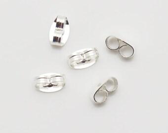 7mm Earnut Butterfly Clutch Silver Tone 1000pieces-