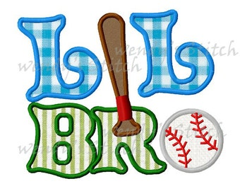 Lil Brother applique machine embroidery design digital pattern