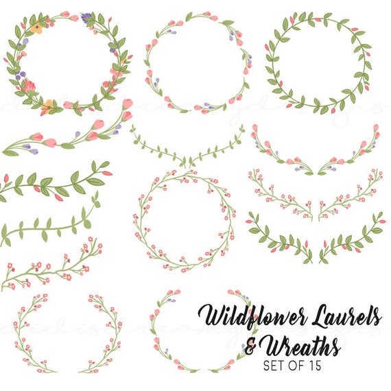 Laurels and wreaths clipart for wedding baby shower bridal laurels and wreaths clipart for wedding baby shower bridal instant download set of 30 transparent background from littebluemango on etsy studio voltagebd Choice Image