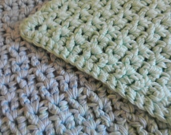 Blue and Green Hombre Baby Blanket