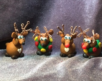 Santa Claus's Reindeer Miniatures