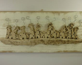 Ceramic painting made entirely by hand
