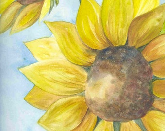 Sunflower - Original watercolor painting