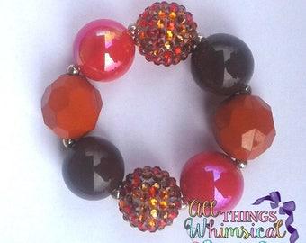Fall Inspired Chunky Bubblegum Bracelet