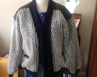 Amazingly Weird Leather and More First Class Cardigan!