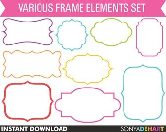 80% OFF SALE Clipart Frames, Clip Art Frames, Frame Clipart, Label Clipart, Clipart Labels, Clip Art,