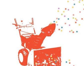 Carococo/ Méchant party ! / carte souhait 5x7 par Carol-Anne Pedneault