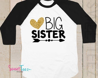 Big Sister Shirt, Big Sister To Be, Big Sister gift, Pregnancy Announcement Shirt,  Big Sister To Be Shirt