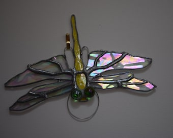Stained Glass Copperfoiled Dragonflies