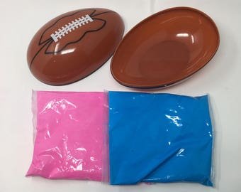 Gender Reveal Football Pink and Blue Kit
