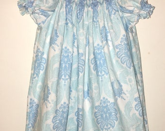 Hand Smocked Blue Spring/Easter Dress