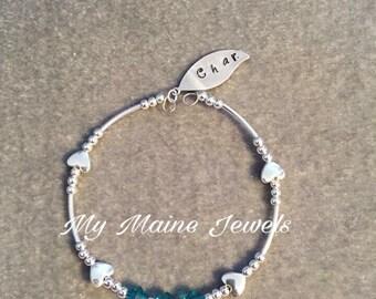 Personalized Handstamped Bracelet