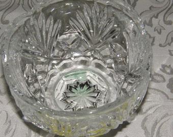 Pressed Glass Bowl With Pinwheel Pattern