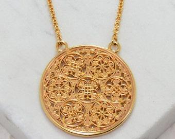 Byzantine Gifts of Glory Pendant | Byzantine Necklace Byzantine Jewelry Statement Pendant Statement Necklace Historical Filigree Handcrafted