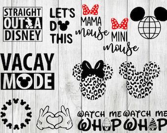 Disney vacation svg bundle, straight outta disney svg, disney monogram svg, cut files for cricut silhouette, png, dxf, eps