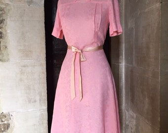 Vintage 30s 40s pink dress S / M