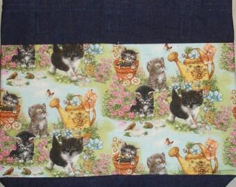 New Handmade Whimsical Cats Kittens Kitties in the Garden Walker Tote Bag