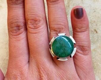 Round Vintage Jade Ring