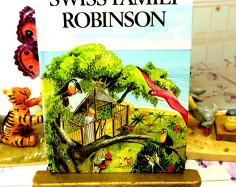 Vintage Ladybird The Swiss Family Robinson Classic Book by Johan Wyss with Glossy Covers First Edition 1979
