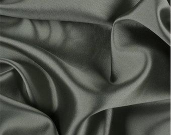 Sage/Black Silk/Wool Gab, Fabric By The Yard