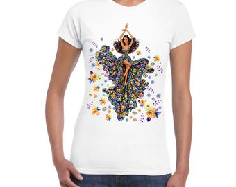 Stylish, Cool Artistic Ladies Junior Fit T-Shirt, DTG Print, For Women and Girls