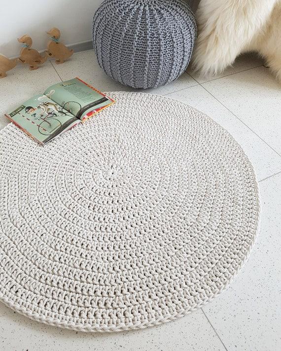 moderne licht beige runden teppich runder teppich. Black Bedroom Furniture Sets. Home Design Ideas