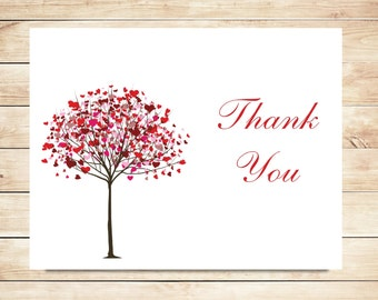 Heart Tree Thank You Cards