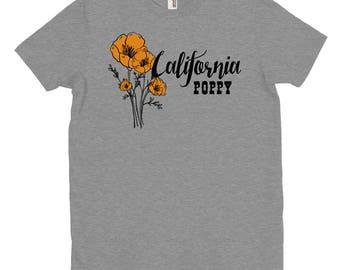 California Poppy T-shirt, Wildflowers, State Flower