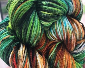 100% Pima Cotton DK Double Knit Hand Dyed Yarn Vegan Natural Supernova Galaxy