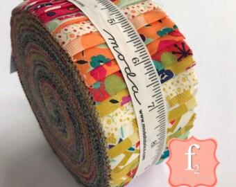 Beach Road Jelly Roll - Jen Kingwell  40 Piece COMPLETE - Moda Fabrics