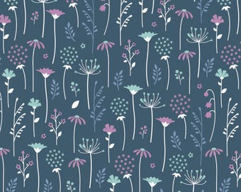 Ethereal Midnight Flowers Fat Quarter Cotton Fabric by Camelot (UK)