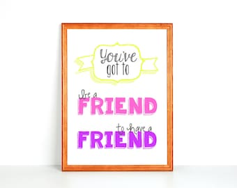 Kid Printable: Be A Friend