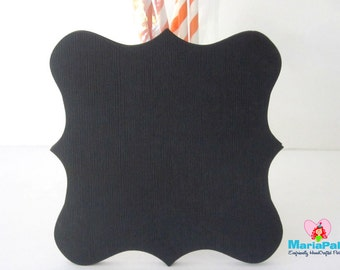 16 Square Bracket cards, Black Bracket die cut,  ( 5 inches) in Textured Cardstock, choose your color  A1111