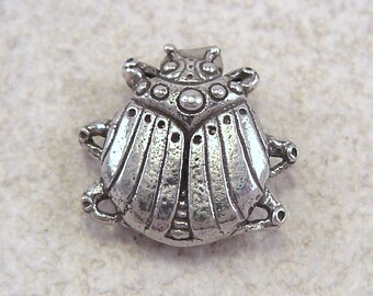 Green Girl Studios Pewter Scarab Button