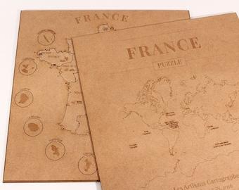 Carte Puzzle en bois de la France