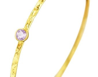 Amethyst Bangle Bracelet