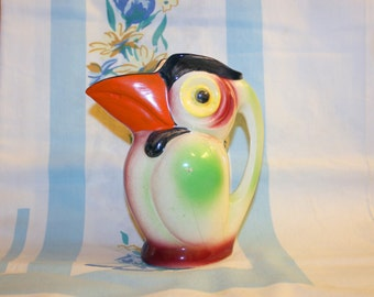 Toucan Pitcher, Vintage, Made in Japan