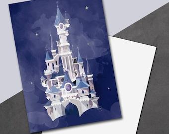 Castle Halloween postcard