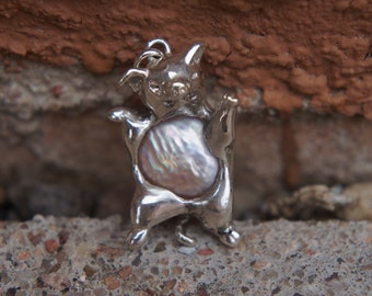 Pearl and Pig Pendant