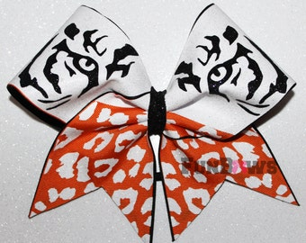 Awesome Glitter Tiger - Allstar cheer Bow by FunBows !