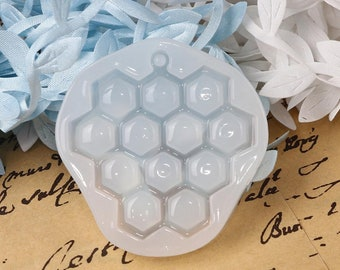 Honeycomb resin silicone mold , epoxy resin mold for jewelry