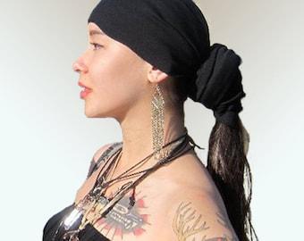 Black Head Wrap % Cotton /Scarves /Bandana