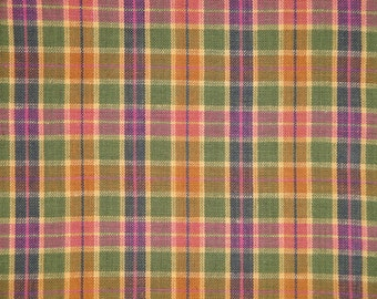 Cotton Homespun Fabric | Plaid Fabric | Rag Quilt Plaid Fabric | Doll Making Fabric | Woven Cotton Fabric | Sewing Fabric | Spring Fabric