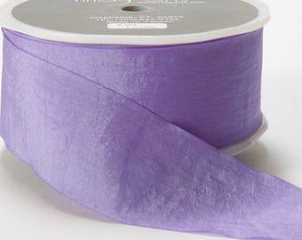 1.5 inch LAVENDER Wrinkled Ribbon, Look like silk, Weddings, romantic, lovely, lavender  ribbon, purple trim, craft supplies