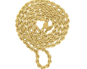 10k Gold Rope Chain, 20 inch