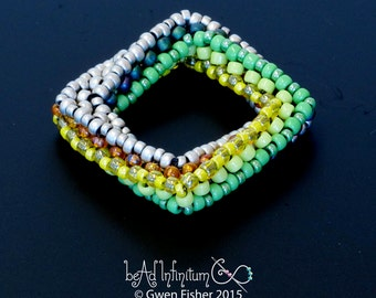 Highly Unlikely Square Beaded Bead No.8