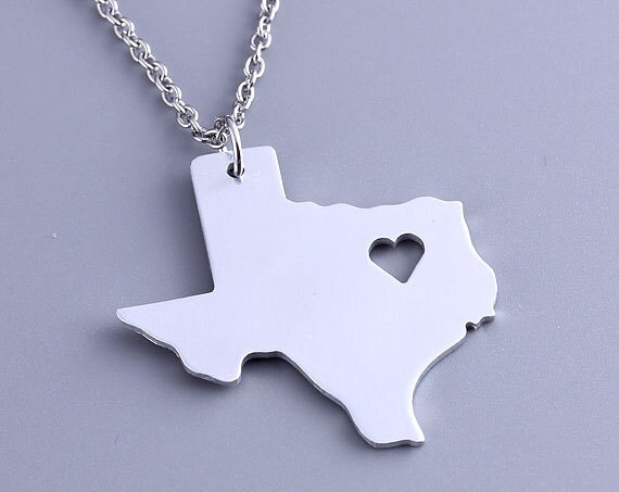 I heart texas necklace texas pendant state charm map mozeypictures Choice Image