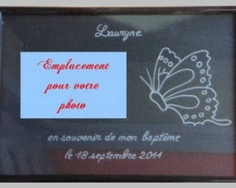 1 photo frame engraved and personalized