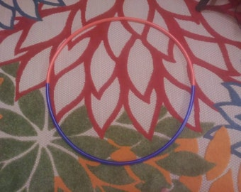 """28"""" 5/8 UV Cali Sunset & UV Blue Two Toned Polypro Ready to Ship Hoop"""